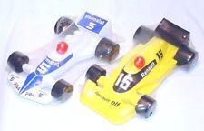 2x ECD Jouets France BRABHAM Renault Elf + Parmalat F1 RACE CAR Mint Sealed `78!