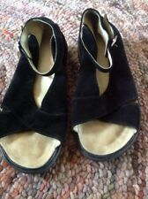 Gentle Souls Black Suede Sandals, Size 37! Ankle Strap! Incredibly Soft!