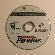 Burnout Paradise Platinum Hits - Disc Only Tested (Microsoft Xbox 360, 2009)