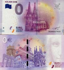 """Null Euro Schein 0 € Souvenir Banknote """"KÖLNER DOM"""" 2017 UNC"""