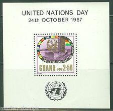 GHANA  IMPERFORATED SOUVENIR SHEET UN DAY   SCOTT#314a  MINT NEVER HINGED