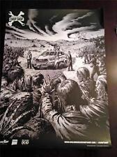 THE WALKING DEAD CHOP SHOP 18x24 Original Promo Poster SDCC 2013 Signed RARE