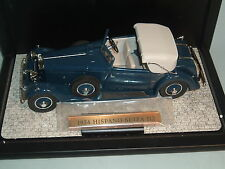 1934 HISPANO-SUIZA J12 BLUE CABRIOLET & DISPLAY CASE DANBURY MINT 1:24 DIECAST