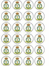 24 X RAF BIRTHDAY RICE PAPER CAKE TOPPERS
