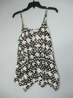Mossimo Supply Co. Women's Size XL Sleeveless Black White Blouse Shirt Top