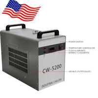 US 60HZ CW-5200DG Industrial Water Chiller for CO2 Laser Tube 6L Cooling Tank CE