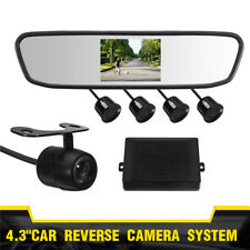 4.3''Car Rear View Mirror Monitor Back Up Reverse Camera Parking System Kit