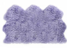 Lambland Super Soft Large Luxury Sheepskin Rug Hide Pelt Lilac Purple Luxury