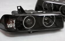G5 CCFL NEON ANGEL EYES SCHEINWERFER SET BMW E36 LIMO KOMBI SCHWARZ mit TÜV NEU