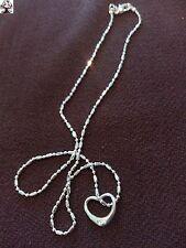 Cadena + colgante corazón chap. plata 925