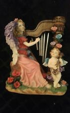 mother and son angel windchime statue