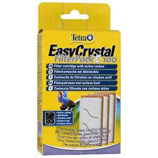 Tetra fácil Filtro De Cristal Pack C100 carbón 3-Pack de carbono de acuario peces tanque