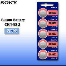 5 x SONY CR1632 batteries Lithium Power 3V Coin Cell BR1632 DL1632 Pack 1