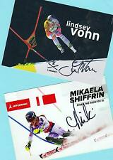 Lindsey vonn-Mikaela shiffrin - 2 ak imágenes (4) - Print copies + ak firmado