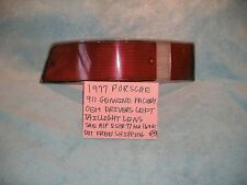 1977 PORSCHE 911 GENUINE FACTORY OEM DRIVERS LEFT TAILLIGHT LENS FREE SHIPPING