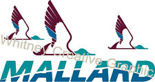 "Mallard  RV LOGO 3 DUCK Graphic decal lettering price is for 1  47"" X 25"""