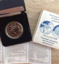 manueduc   FINLANDIA 2008 5  EUROS ESTUCHE PP PROOF  Science Con Certificado