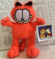 New GARFIELD & Odie Plush Fluorescent Pink Orange Toy Factory Cat Stuffed Doll 9