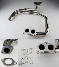 Inoxydable Course Collecteur D/'échappement Pour Subaru Impreza GC8 GDA GDB 1.6 2.0 Non Turbo