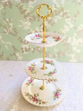 Cake Stand Moss Rose Royal Albert Porcelain & China