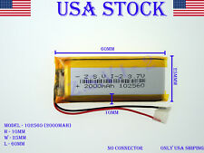 3.7V 2000mAh 102560 Lithium Polymer LiPo Rechargeable Battery (USA STOCK)