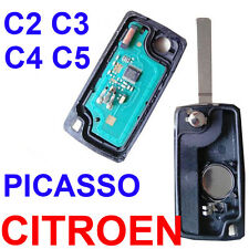2 Button Remote Alarm Flip Key Fob 433MHz ID46 Chip For CITROEN C2 C3 C4 PICASSO