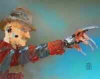 ORIGINAL Abstract Freddy Krueger Horror Nightmare on Elm Street  Art Painting