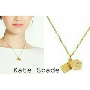 Kate Spade Lucky Streak Dice Necklace NWT Perfect Gift of Good Luck!