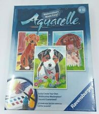 Ravensburger Aquarelle Watercolor 3 Puppies Pictures Painting Kit 7×9.5 Inches