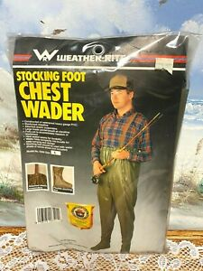 Chest Waders W/Suspenders Stocking Foot (XL) Waterproof Weather Rite New/Sealed