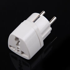 US AU UK Universal to EU AC Power Plug Adapter Travel Converter Adapteur Europe