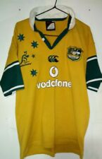 Vintage Australia Wallabies Canterbury VODAFONE Rugby Jersey Size Large