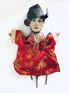 Puppet Marionette Male Wood Doll Burmese Folk Art Puppet Asian Collectable