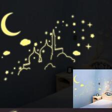 Fluorescent Islamic wall sticker Glow in the dark nursery decor Islamic castle