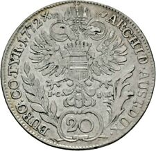 Habsburg 20 Kreuzer 1772 Maria Theresia Silber Schön 95 (M262)