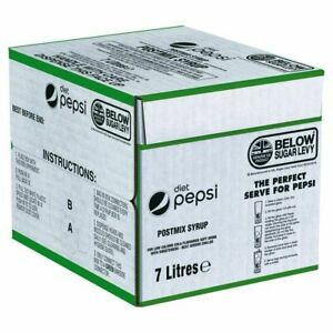 DIET PEPSI Bag in Box Postmix Syrup - 1x7 LITRE (SEE DESCRIPTION)