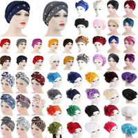 Women Head Scarf Hat Turban Head Wrap Hair Loss Cover Chemo Hat Bandana Headband