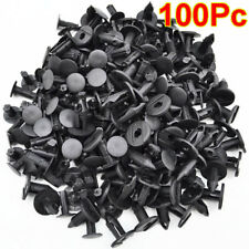 100Pc 8mm Car Hole Nylon Plastic Rivets Fastener Fender Bumper Push Pin Clips