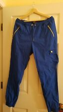 Jaanuu scrub pants large blue joggers