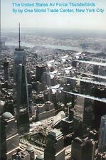 Air Force Thunderbirds Fly By One World Trade Center New York City NY - Postcard