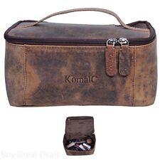 Toiletry Bag Case Travel Shaving Kit Leather KomalC Genuine Unisex Vanity Dopp
