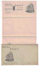 1920s 30s  Letter Hotel Raulf Oshksoh Wisconsin