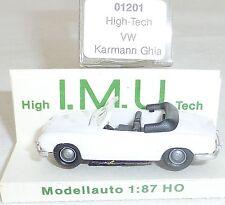 VW Carman GHIA Cabriolet BIANCO IMU EUROMODELL 01201 H0 1/87 conf. orig. #HU6 Â