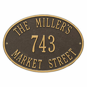 Hawthorne Oval Personalized Address Plaque