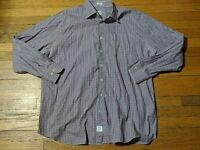 Peter Millar Long Sleeve Button Front Mens XL 100% Cotton Made In Turkey Shirt