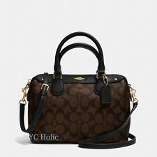 New Coach F58312 Mini Bennett Satchel In Signature Brown Black NWT