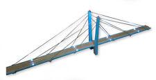 "30"" Single Lane Tower Suspension Bridge - Lake Blue - 16 LEDs"