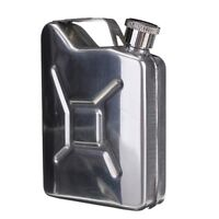 Stainless Steel Jerry Can Flask LiquorWhisky Pocket Bottle NO Funnel 5oz NP2X