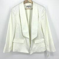 Sz 16W MSRP $129 Kasper Women's Blazer White Textured Elegant NWT C038