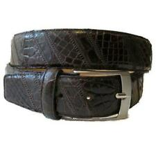 Limited Edition MORIGI Genuine Crocodile & Leather Adjustable Belt Made in Italy